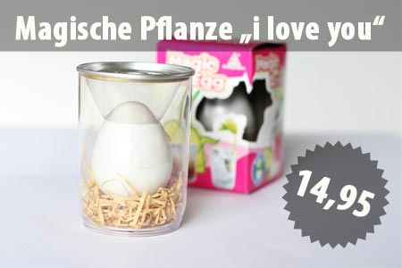 Magic Egg - Magische Pflanze I Love you