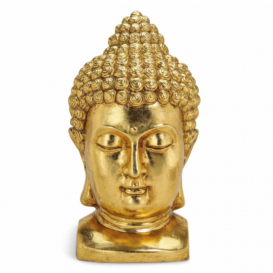 buddha kopf in gold online kaufen. Black Bedroom Furniture Sets. Home Design Ideas