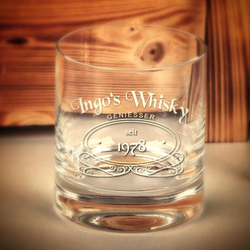 Whiskeyglas mit Logo und persönlicher Gravur