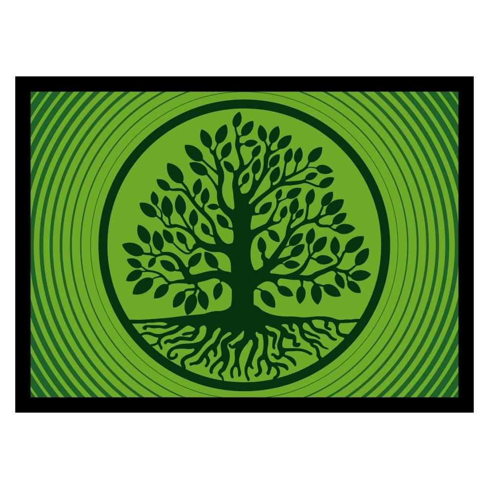 Die Fußmatte Baum des Lebens, grün