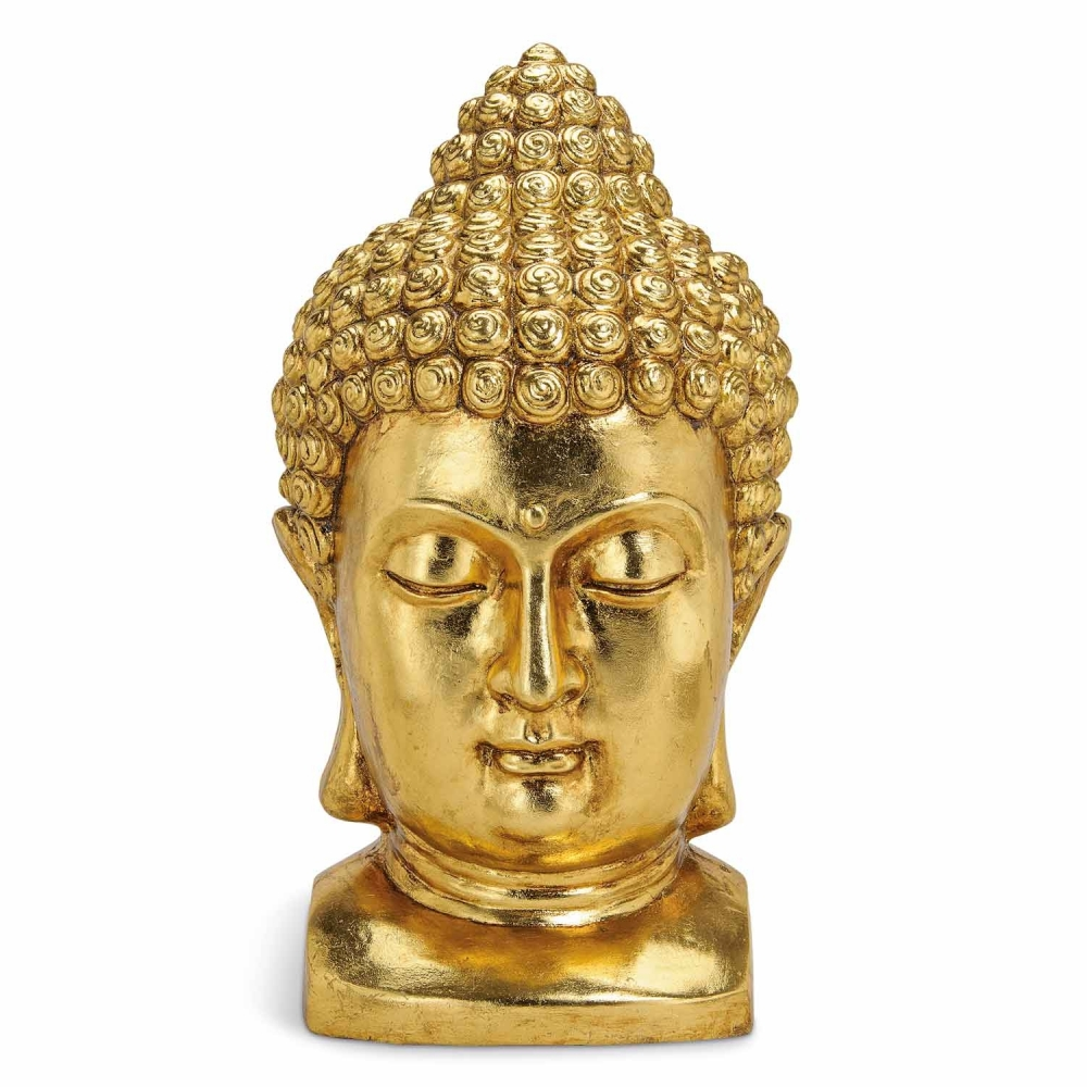 buddha kopf in gold online kaufen. Black Bedroom Furniture Sets. Home Design Ideas