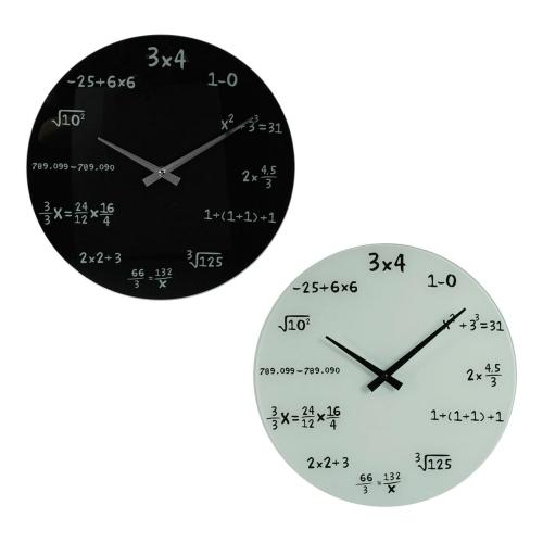 Mathe Uhr für die Wand - weiß oder schwarz