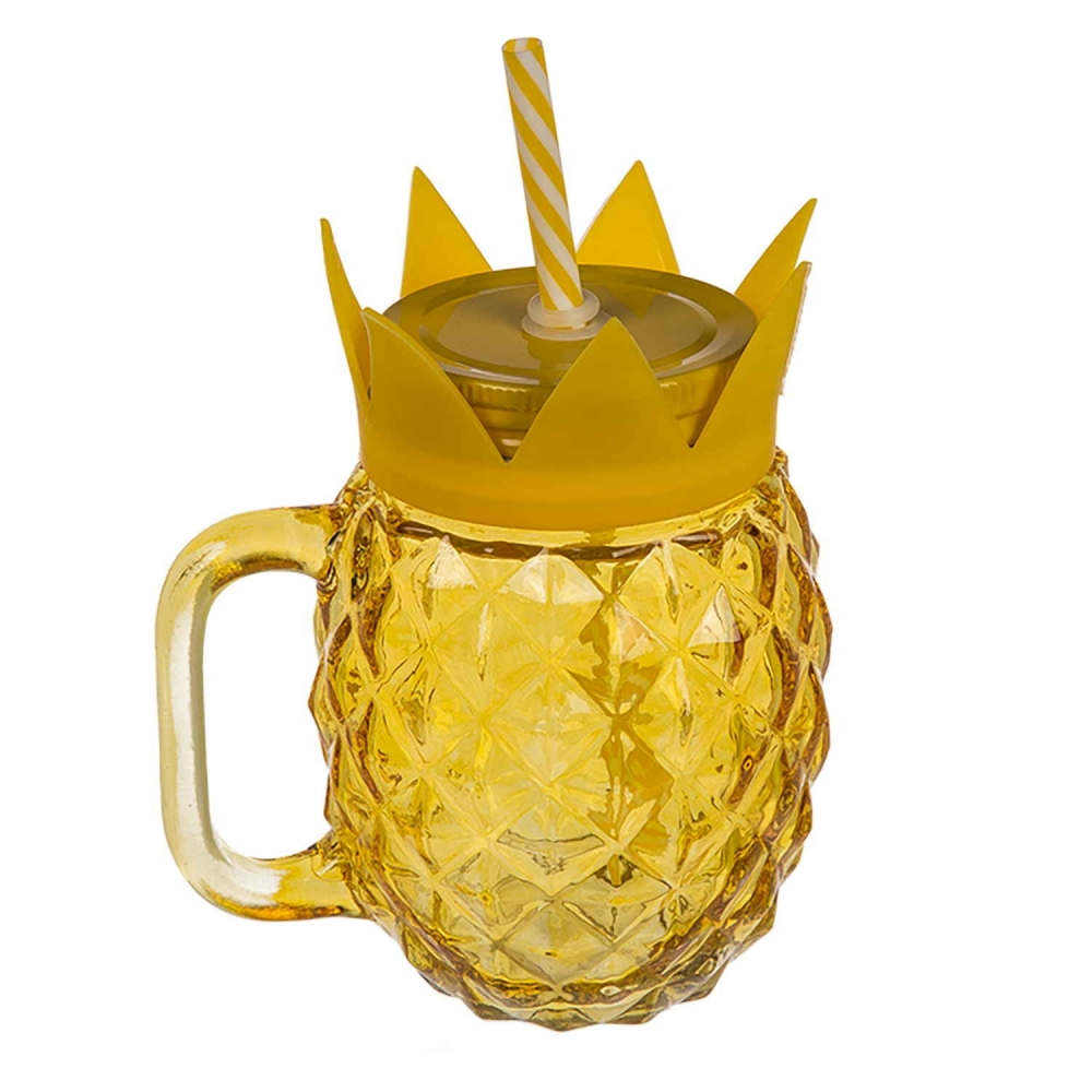 Cooles Trinkglas in Ananas-Form 500 ml