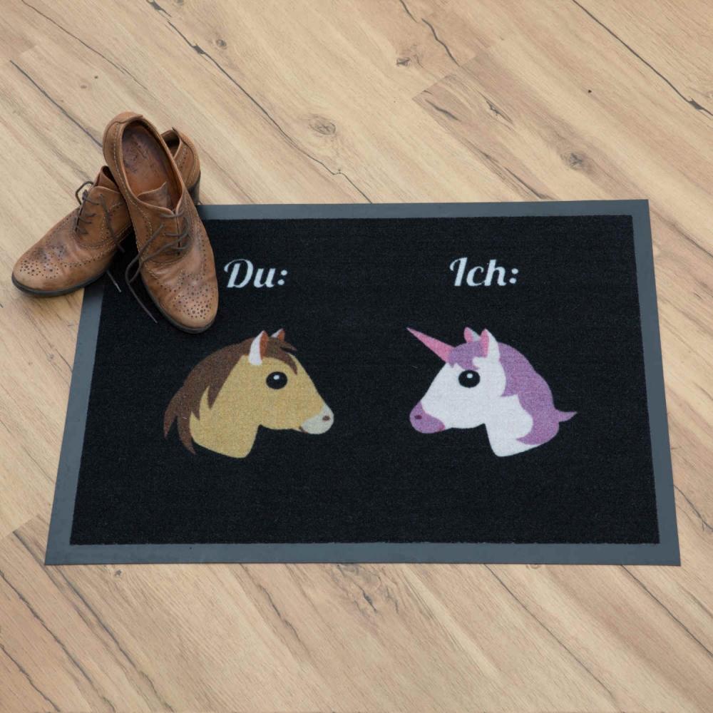 Fußmatte Einhorn & Pferd