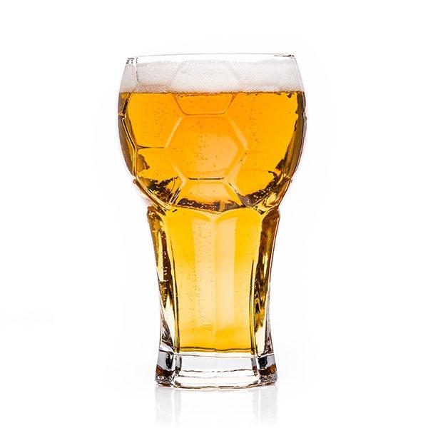 Großes Fußball Pokal Bierglas für 600 ml Bier