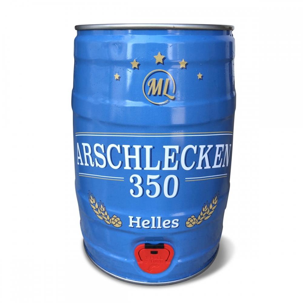 5 Liter Partyfass Party-Keg Arschlecken 350 Hel...