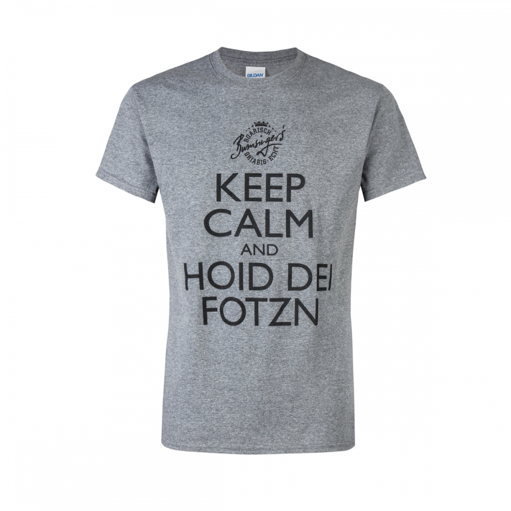 Witziges T-Shirt Keep Calm and hold dei Fotzn -...