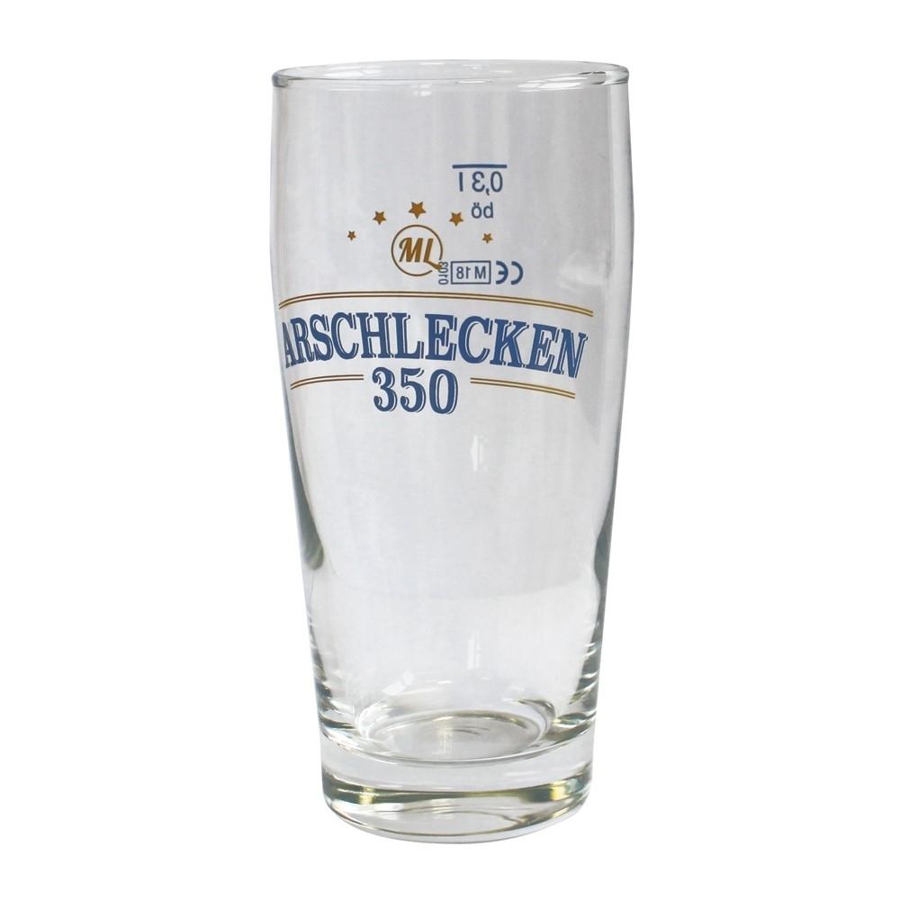 Bierglas Willibecher Arschlecken 350