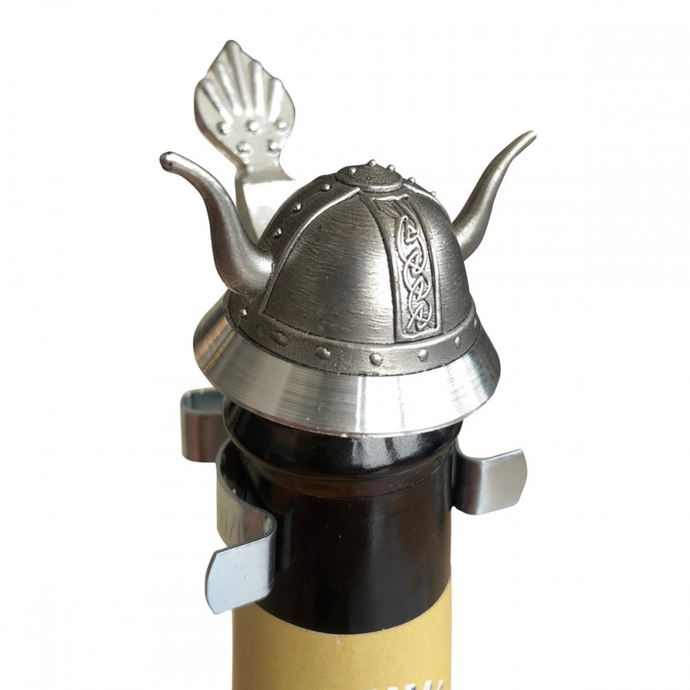 Der Zinndeckel Wikingerhelm für Bierflaschen