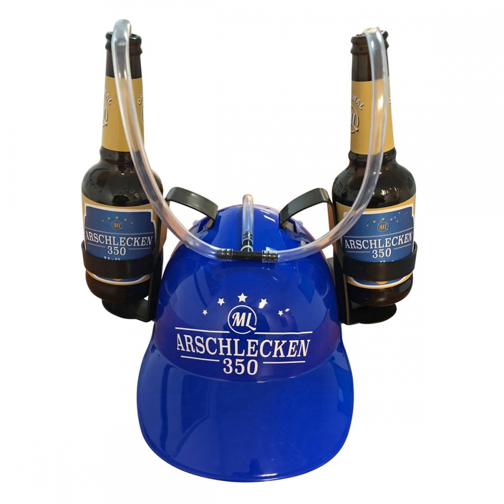 Trinkhelm Arschlecken350 & 2 Flaschen 0,33l Hel...