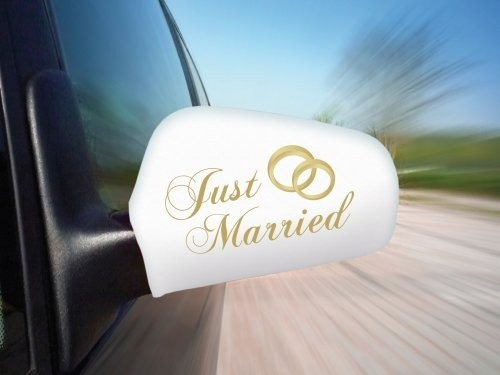Autospiegel Fahne - Just Married