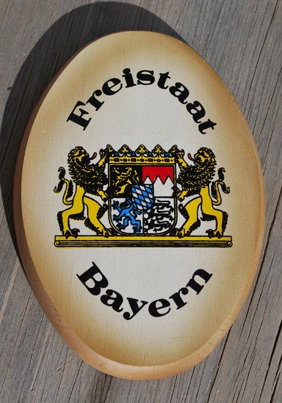 Das Freistaat Bayern Holzschild