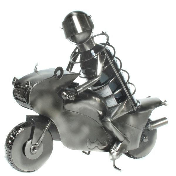 Der außergewöhnliche Motorrad Weinflaschenhalter