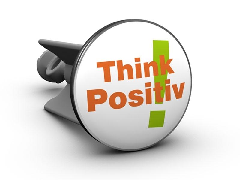 Der Think positiv! Waschbecken-Stöpsel
