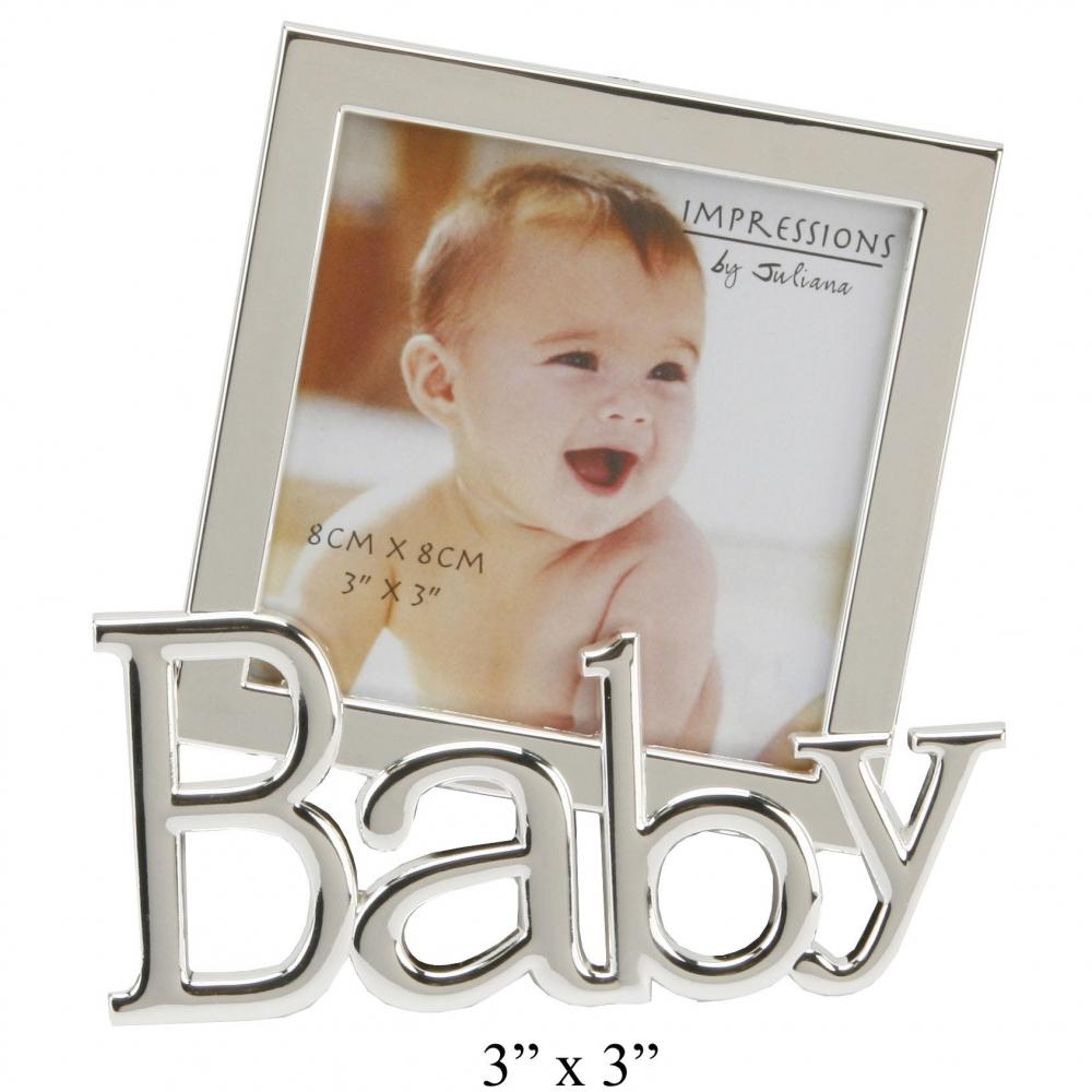 Der Mini Bilderrahmen Baby Versilbert - geschenkBOX.de