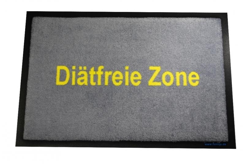 Diätfreie Zone - Fussmatte