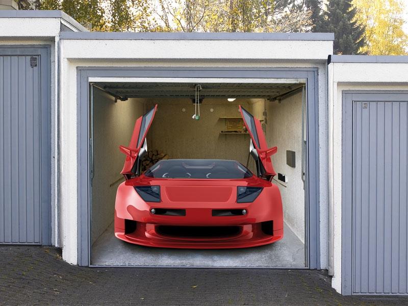 Die Garagentor Stoffplane Auto