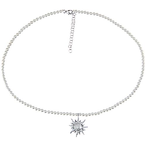 Die wunderschöne Trachtenkette mit Enzian und P...