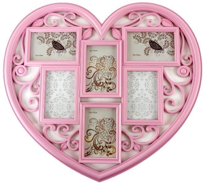Fotorahmen Herz pink