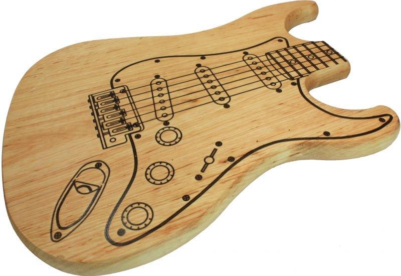 Frühstücksbrett in Gitarren-Optik eingeölt
