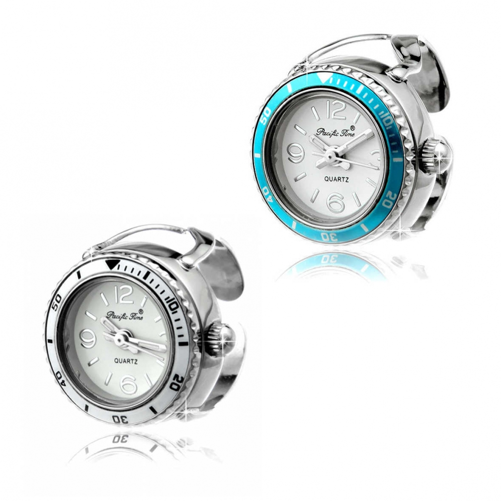 Funice Design Ringuhr Crystal Tourquoise / Snow...