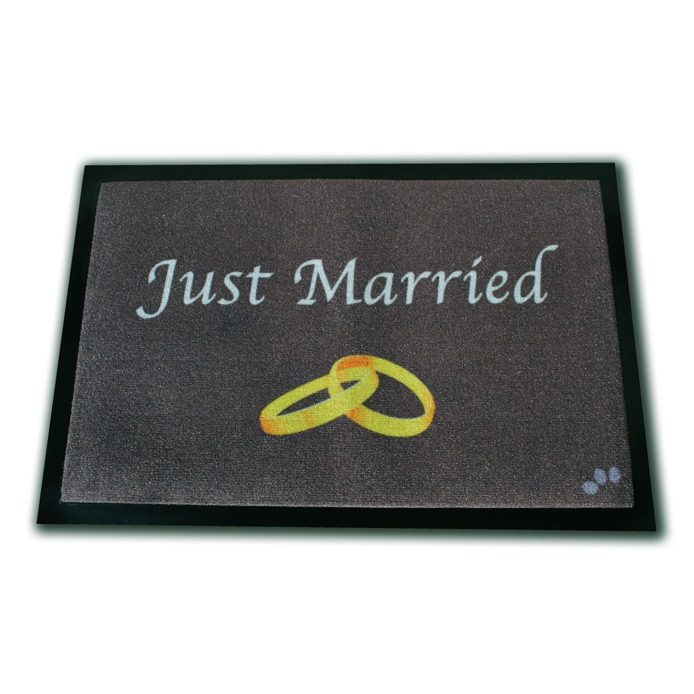 Fußmatte ´´Just Married´´ zur Hochzeit - broschei