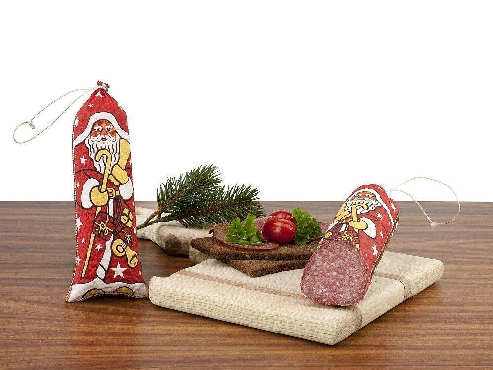 Geschenkset Weihnachtsmann-Salami