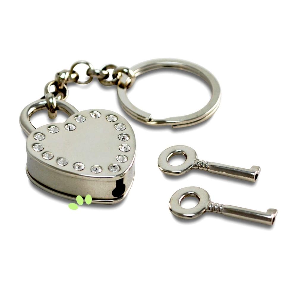 Herzschloss für Verliebte Schlüsselanhänger - broschei