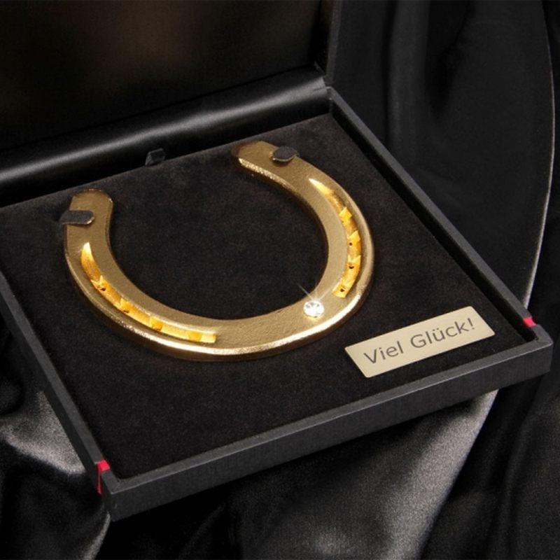 Hufeisen ´´Glück´´ in Geschenkbox mit Personali...