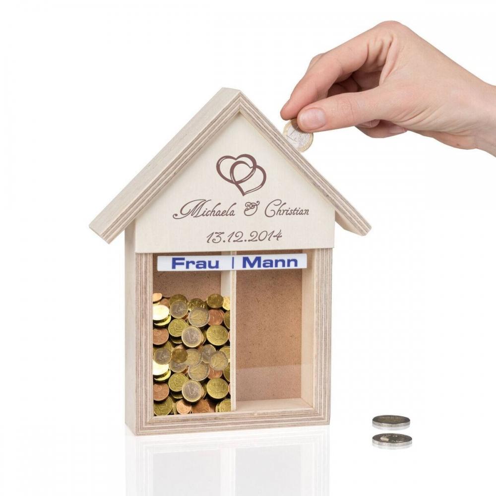 Partnerkasse Paare Haus mit Personalisierung