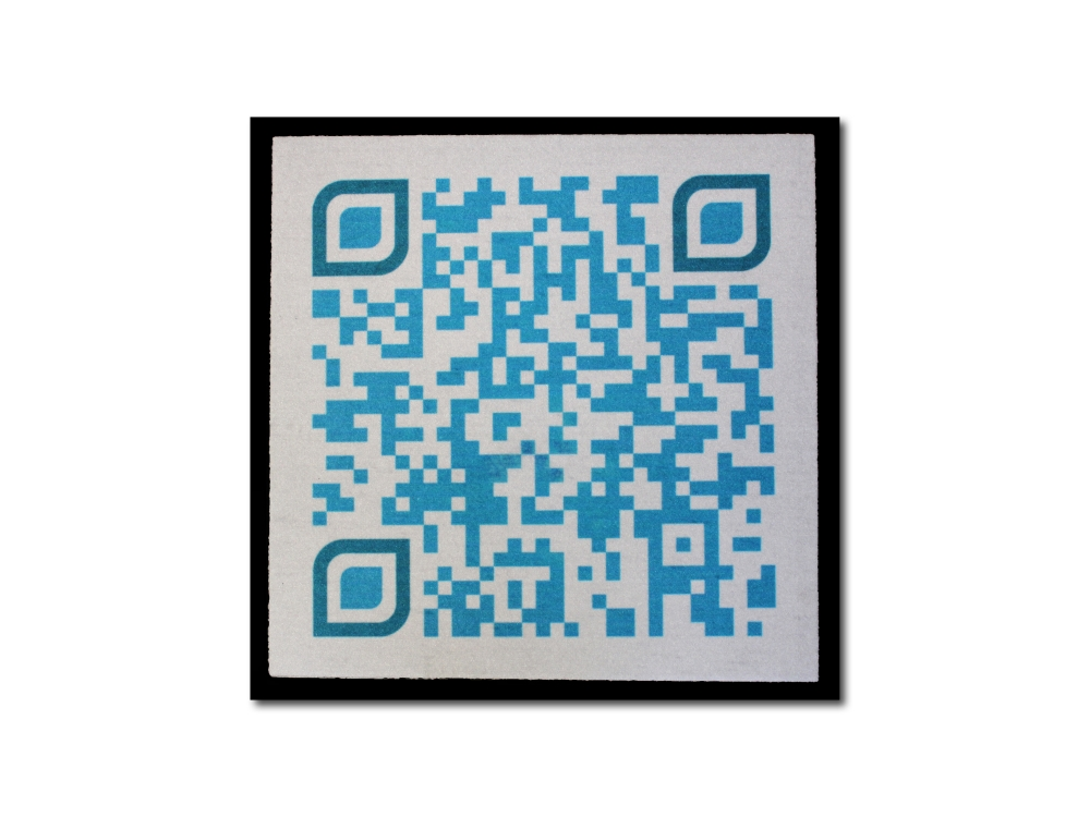 QR-Code Fußmatte mit Ihrem Wunschtext