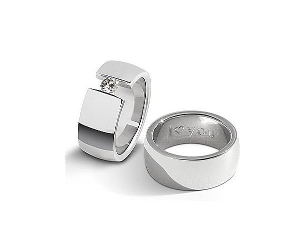 Ring mit und ohne Zirkoniastein - STIGMA 1304 premium - broschei