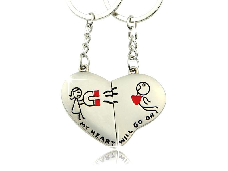 Schlüsselanhänger für Paare - My heart will go on