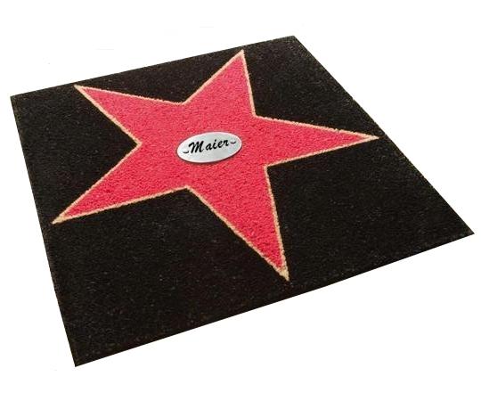 Schmutzfangmatte Walk of Fame mit eigenem Stern - broschei