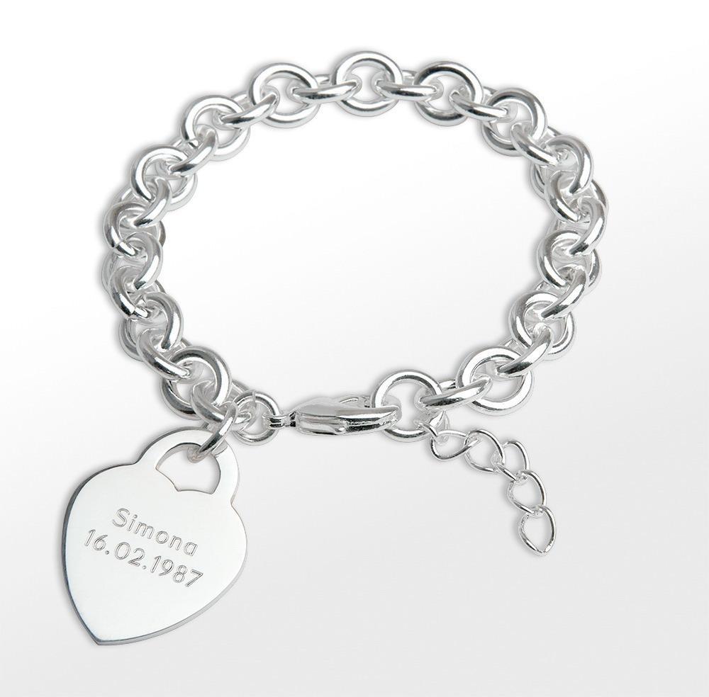 Silbernes Armband Loveline - broschei