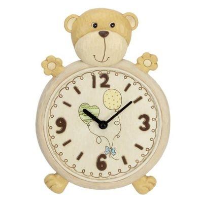 Teddybär Wanduhr