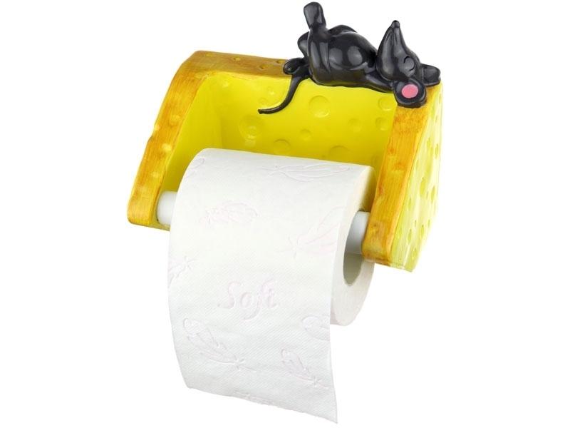 Toilettenpapier Abroller Maus mit Käse