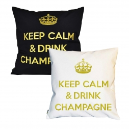 Outdoorkissen Keep Calm & Drink Champagne