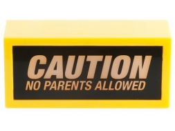 Das coole LED Warnschild - No parents allowed