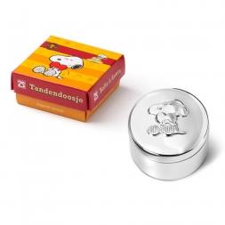 Lockendose /& Zahndose mit Gravurfeld für Namensgravur in Geschenkbox Versilbert